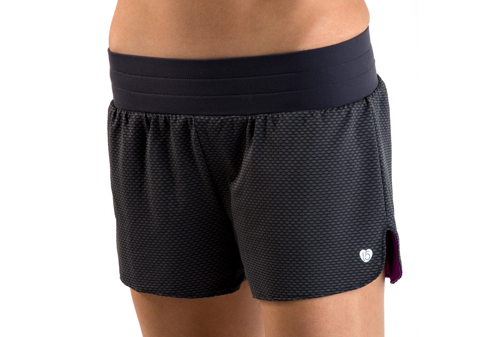 15 Love Reversible Mesh Short - Womens - heather grey, large