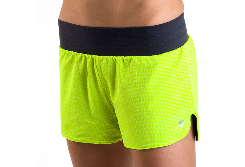 15 Love Reversible Mesh Short - Womens - safety yellow/grey, large