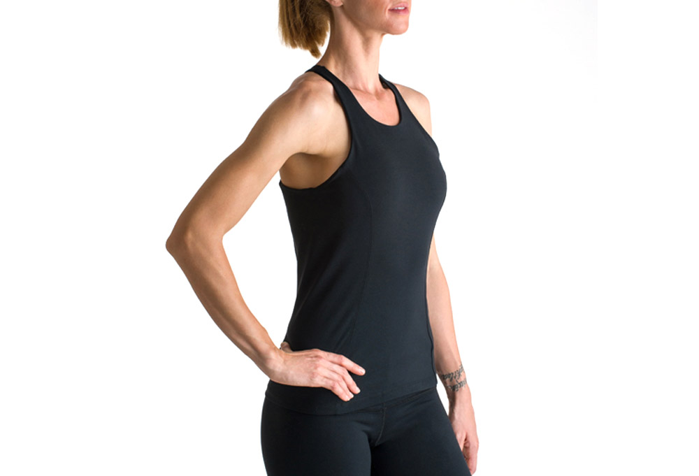 15 Love Mesh Back Tank - Womens - black, xsmall