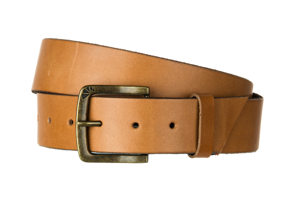 Armourdillo Tanner Indiana Single Prong Belt - brown, large
