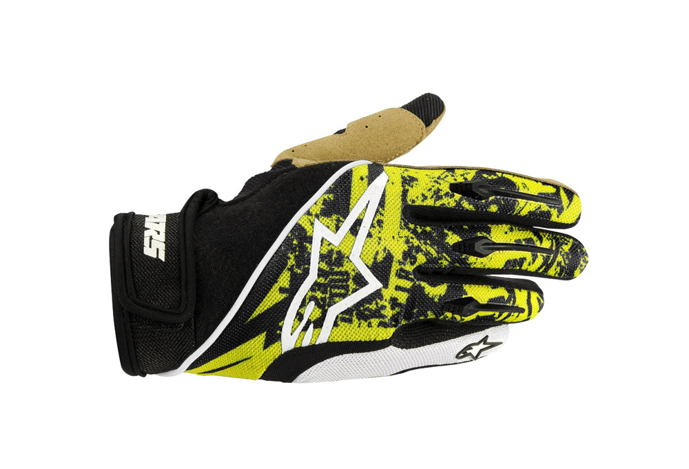 Alpinestars Gravity Glove - yellow fluorescent/gray, medium