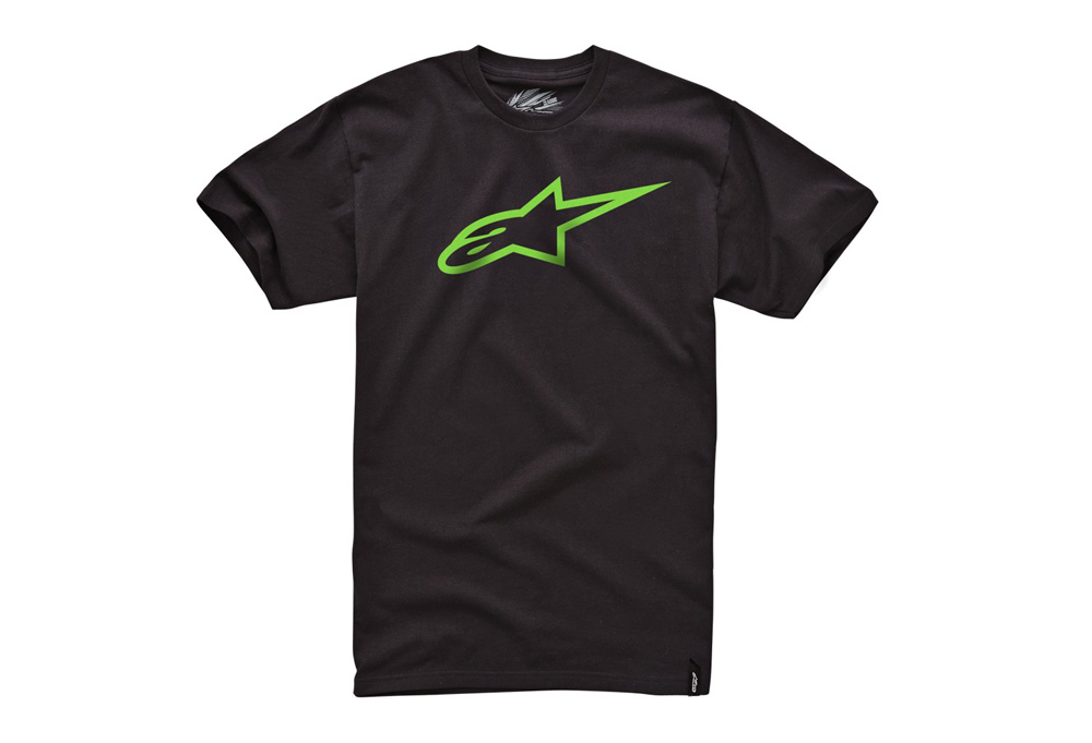 Alpinestars Ageless Classic Tee - Mens - black/ green, large