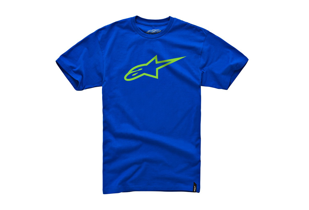 Alpinestars Ageless Classic Tee - Mens - royal/bright green, large