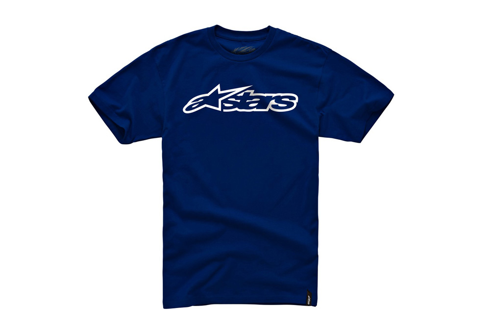 Alpinestars Blaze Classic Tee - Mens - navy/white, large