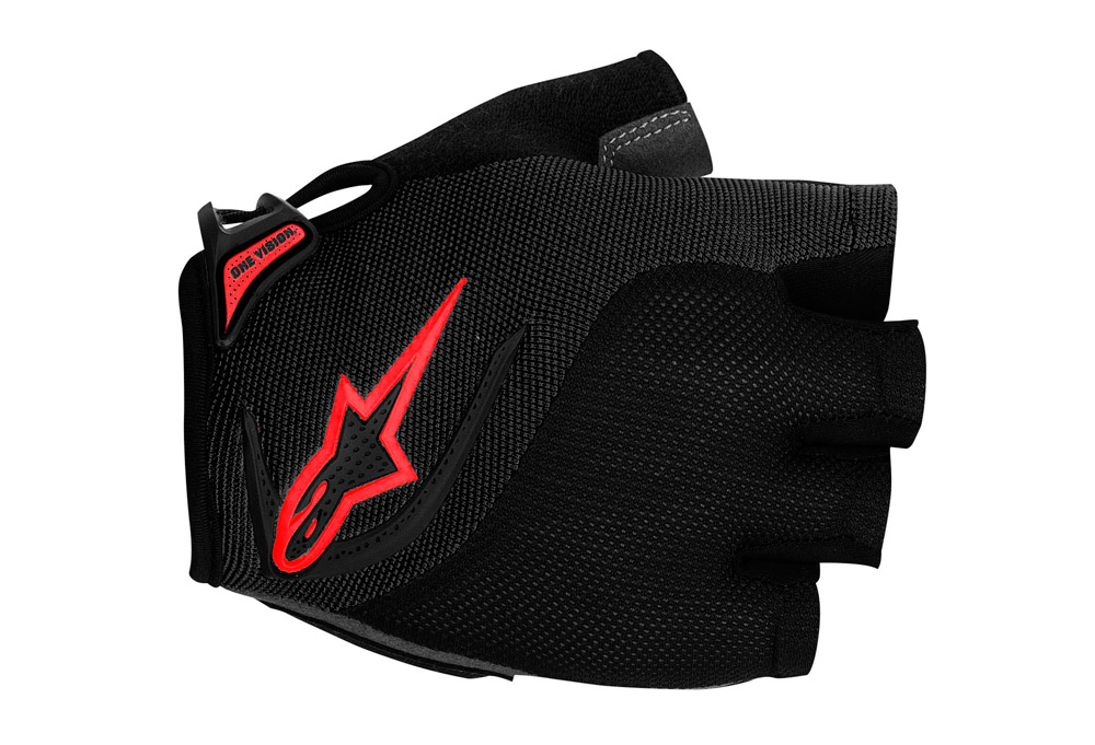 Image of alpinestars Pro-Light Short Finger Glove - black/red, medium