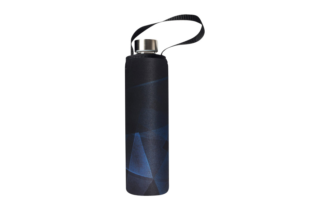 Bbbyo Glass Is Greener Bottle + Carry Cover - 750 Ml - Prism Print, 750ml