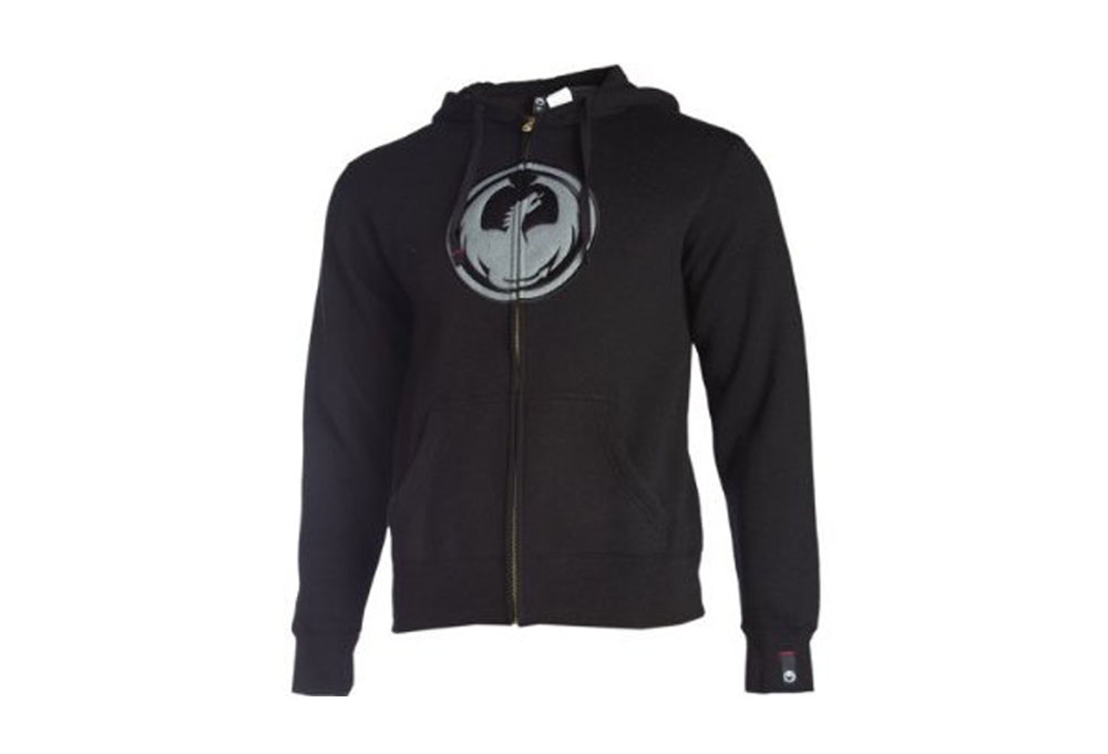 Dragon Icon Zip Hoodie- Mens