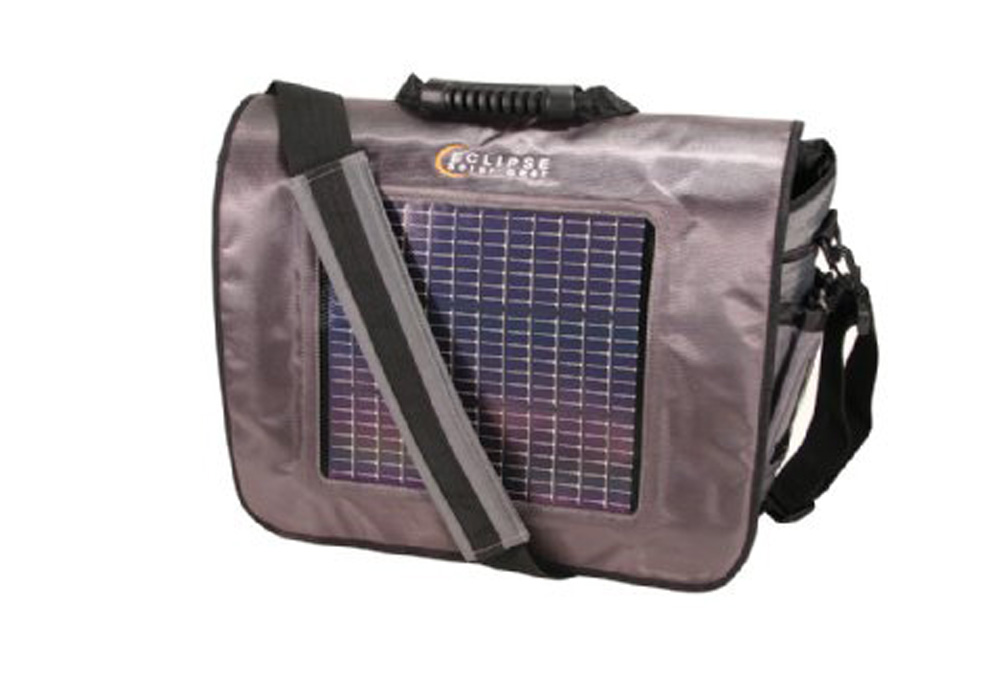 "Eclipse Solar Gear Fusion Solar Messenger Bag - gray/black, 18"" x 13"" x 5"""