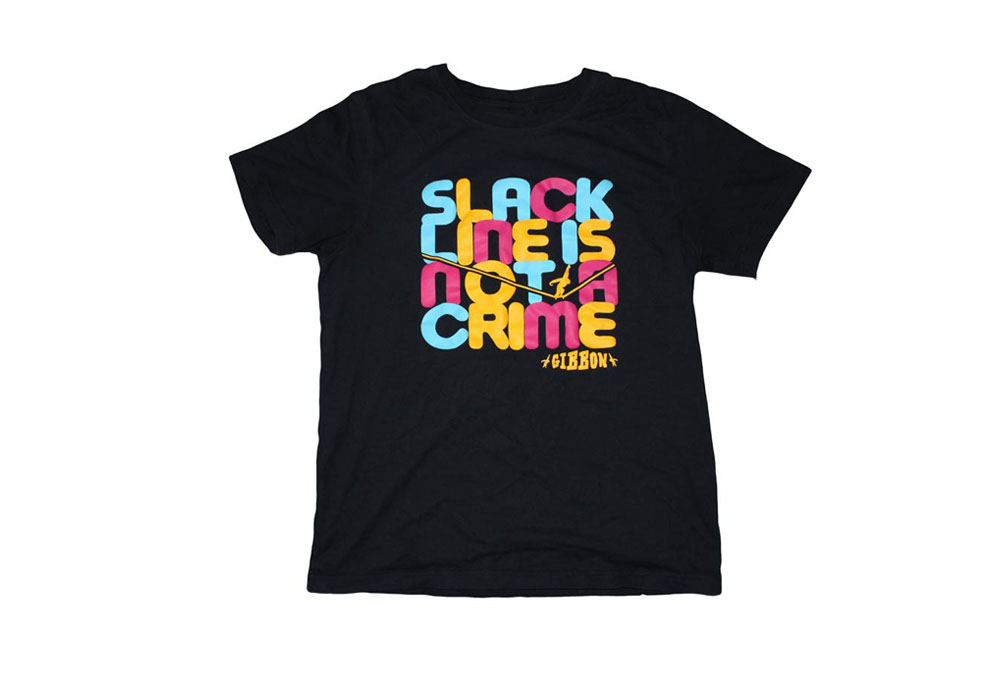 Gibbon Slacklines Not A Crime t-shirt