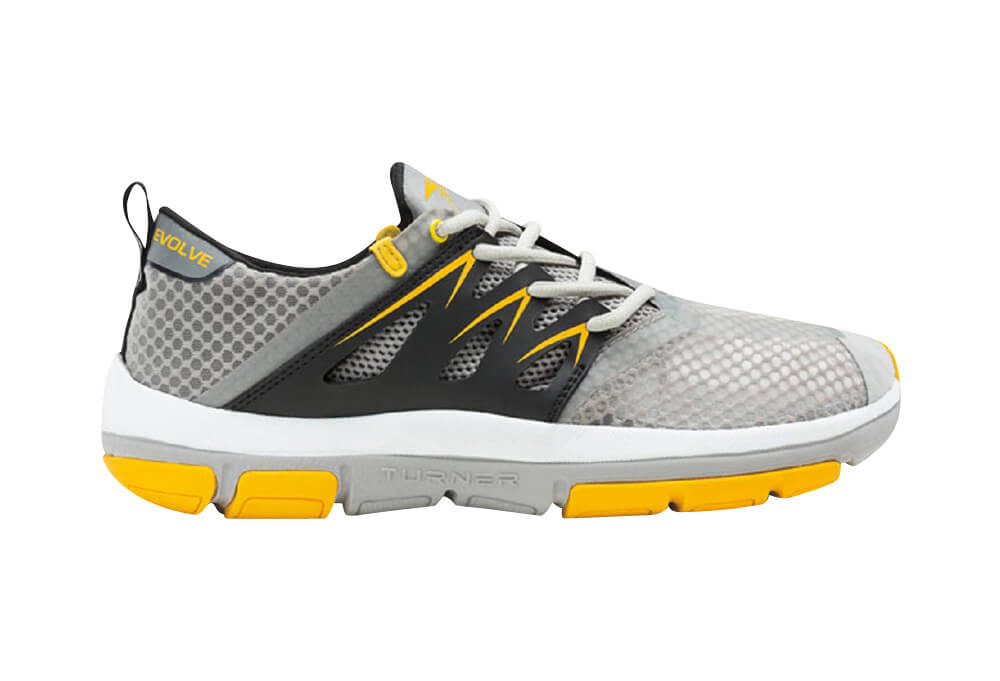 Turner T-Fleerun Shoes - Men's - grey/yellow/black, 9.5