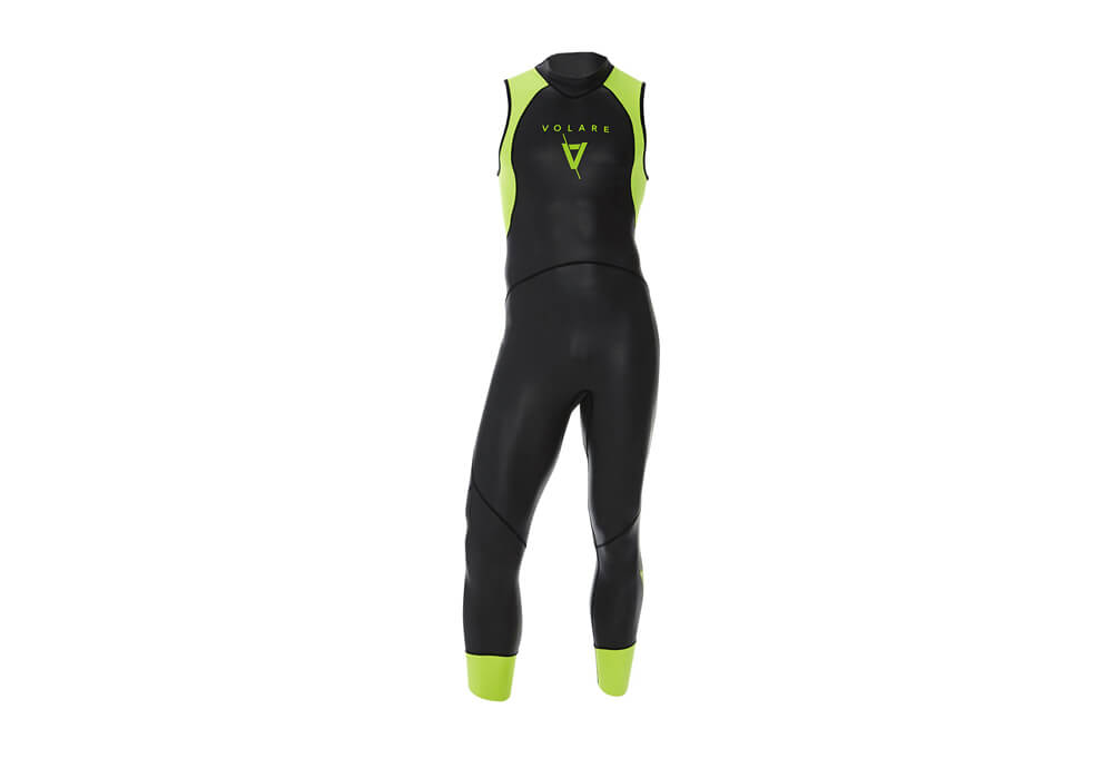 Volare V1 Sleeveless Triathlon Wetsuit - Men's - black/yellow, xl