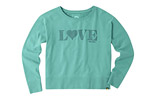 Life is Good Quilted Love Go-To Crew Sweatshirt - Women's