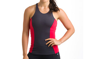 15 Love Seamed Mesh Back Tank - Women's