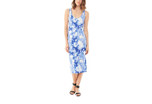 Alternative Apparel Cotton Modal Racer Midi Dress - Women's
