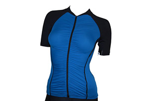 Active Angelz Ruched Short Sleeve Jersey - Womens