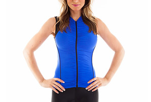 Alii Lifestyle Beatriz Sleeveless Ruched Bike Jersey - Womens