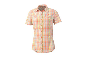Adidas Hiking Check Short Sleeve Shirt - Womens