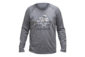 adidas Hiking Camo Long Sleeve Tee - Men's