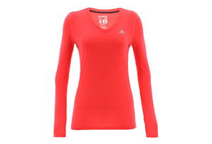 adidas Ultimate Long Sleve V-Neck - Women's