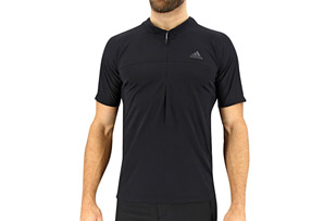 adidas 37.5 1/2 Zip Short Sleeve Tee - Men's