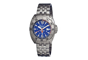 Bull Titanium Robust Carbon Fiber Dial Design Bracelet Watch