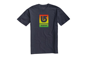 Burton Logo Vertical Fill Tee Shirt - Mens