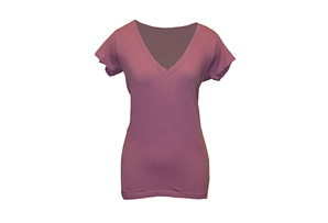 Hurley Solid Perfect V-Neck Heathered Tee - Wmns