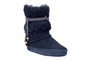 MUK LUKS Sofia Beaded Slipper Boot - Womens