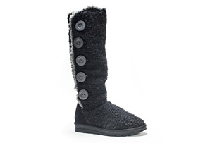 MUK LUKS Malena Crotchet Button Up Boot - Women's