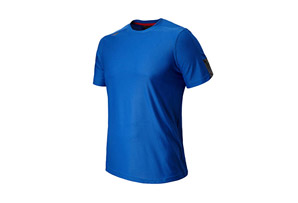New Balance Cross Run Short Sleeve Top - Mens