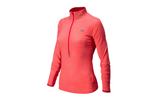 New Balance Impact Half Zip Graphic - Womens