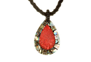 Ocean Exotics 'Red Sundance' Necklace