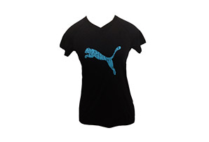 Puma Digitized Graphic Logo Tee - Womens