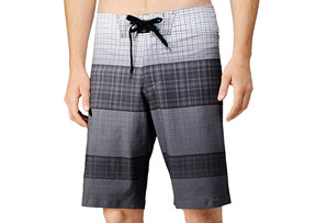 REEF My Name Is Plaid Stripe Boardshorts - Mens