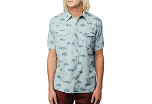 REEF Plains Surfer Western S/S Shirt - Mens