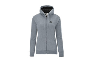 Salomon Logo Hoodie Full Zip - Womens