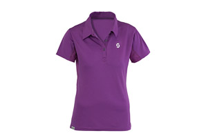 Scott Slate Polo Short Sleeve Shirt - Womens