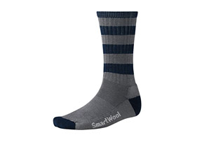 Smartwool Striped Hiking Light Crew Socks - Mens