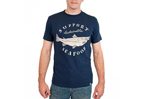 United By Blue Sustainable Seafood Tee- Mens