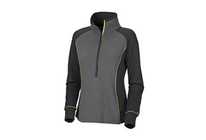 Columbia Heather Honey Half Zip Shirt - Wms