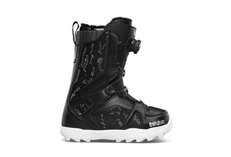 thirtytwo stw boa snowboard boots 2015 - womens- Save 51% Off - Spin to Win with the BOA lacing system, the fastest way to get in and out of your boots.  Features  - Boa Lacing System - delivering an unparalleled glove-like fit with aircraft grade durability and insane micro-adjustability.  - 3D Molded Tongue - easier lacing for improved fit and flex.  - High Density Evolution Foam Outsole - lightweight and durable  - Level 1 Liner - 100% Heat Moldable Intuition Liners for a custom fit / Single density Intuition foam for comfort, warmth and support / Internal anatomical foam overlays for optimal heel hold / Integrated Lacing System for improved heel hold / All Women's Liners include Sherpa lined cuff