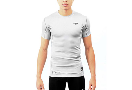 1st round energydna reaction shirt - men's- Save 45% Off - 1st Round's signature base layer products, the Smart Shield Compression line was developed for the high level athlete or weekend warrior who is ready to take their game to the next level. Founded with performance enhancing energyDNA technology, the Reaction Shirt will have your body performing the same in the 4th quarter as it did it the 1st.  Features:  - Smart Shield Compression technology  - energyDNA technolog enhances performance  - Short sleeve  - Athletic fit