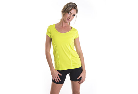 alii sport classic run tee -  women's- Save 58% Off - A soft, loose fitting, technical run T.  Athletic, performance, comfort! This is the kind of T that feels soft, and yummy on your skin. Wear it on your run or as you go about your day  Features:  - Softest Italian jersey fabric  - Looser fit  - Super comfortable and easy to layer  - Small hidden pocket for valuables