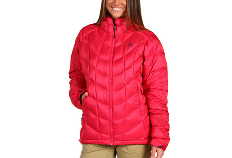Adidas Hiking Down Jacket   Womens   sharp red, small