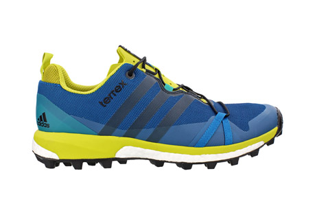 adidas terrex agravic shoes - men's- Save 40% Off - Light, fast and stable, this trail running shoe has Boost(TM) endless energy return to push your limits and conquer mountain trails. A breathable EVA tongue provides comfort. The Continental(TM) Rubber bike tire outsole tread gives it extraordinary grip.  Features:  - Mesh upper with abrasion resistant weldings for protection.  - Boost(TM) cushioning offers endless energy in the mountains and high adaptability on rocky surfaces.  - Continental rubber outsole with a lug pattern inspired by the Der Kaiser tire for extraordinary grip  - 5.5mm lug height.   - 60a outsole rubber hardness.  - 6.5mm drop  - Fall/Winter 2016 - Discontinued Style
