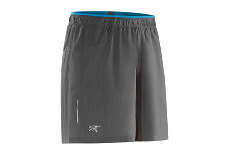 arc'teryx adan short - men's- Save 36% Off - Arc'Teryx Men's Size Chart             Designed to handle a wide range of training and aerobic activities, the versatile Adan Short is constructed from Arc'teryx Invigor(TM) polyester fabric. Delivering stretch performance with exceptional airflow, and treated with a durable water repellent (DWR) finish, the quick dry stretch woven fabric is exceptionally light and moves comfortably with body.Articulated patterning, a gusseted crotch and side split at the hem combine with the fabric's stretch for exceptional freedom of movement. The design eliminates the inseam, reducing fabric bulk and eliminating potential irritation. Flatlock seams lie flat for added comfort.  A streamlined back stash pocket holds small items and is placed for minimal bounce and interference while on the move. The integrated Viente(TM) mesh brief feels comfortable next to the skin, wicks moisture and provides support.  Features:  - Moisture-wicking  - Breathable  - Lightweight  - Quick-drying  - Flatlocked seams lie flat for added comfort  - Articulated patterning for unrestricted mobility  - Adjustable elastic waist drawcord  - Elasticized waist  - Lumbar stash pocket with zip  - Reflective logo  - Invigor LT(TM)-Polyester weave with mechanical stretch  - Viente(TM)-100% polyester 140 g/m^2. Lightweight, highly air permeable knit mesh textile that has wicking properties for moisture management.  - Only available to ship within the USA  - Fall 2015 / Discontinued Style