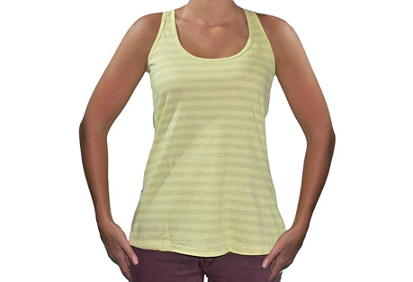 blue canoe stripe tank - womens- Save 52% Off - The perfect summer top - an easy fit tank with a gather detail in back with colored stripes.   Features:  - 100% organically grown cotton