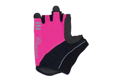 canari aurora gloves - women's- Save 40% Off - Canari Apparel Size Chart  Cushion your grip with this gel padded glove. The Aurora gloves have a 4-way stretch mesh body, with a synthetic leather palm and microfiber thumb. Their gel padding absorbs shock. Canari's signature crown finger pulls make removal easy.  Features:  - Moisture wicking 4-way stretch mesh with perfectly placed gel padding  - Perforated synthetic leather palm and microfiber thumb  - Signature crown finger pulls for easy removal  - Hook and loop closure