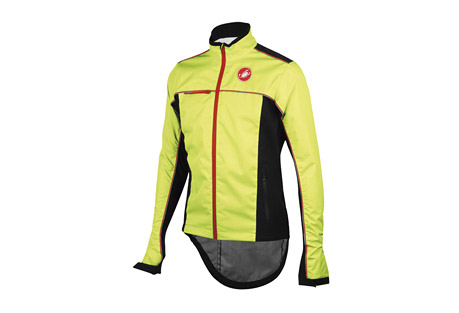 castelli sella rain jacket - men's- Save 52% Off - Castelli Size Chart  The Selle Rain jacket offers exceptional weather protection while maintaining breathability and mobility. Fully seam sealed and with waterproof zippers for additional protection, this jacket has an adjustable hem and cuffs for a precise fit. Reflective detailing helps keep you visible in low light conditions.  Features:  - 3-layer waterproof and breathable laminate fabric 100%   - Polyester with nylon mesh tricot backside bonding 5,000mm/5,000mvp  - Fully seam sealed  - Flip-up collar extension for added protection when needed  - Micro fleece lining at inside collar  - Waterproof zippers  - Rain flap with zipper garage at front  - Reflective piping and screen printing offers optimal visibility from all angles  - Underarm zipper vents  - Left sleeve zipper pocket   - Elastic drawcord at hem  - Adjustable velcro closure at wrist  - Weight: 415g (Size L)