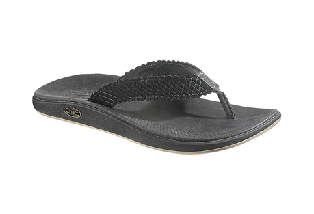 chaco liberty flip sandals - womens- Save 62% Off - Foot freedom meets laid-back luxury in the Liberty Flip. Rich diamond-etched suede bridges Chaco's APMA certified PU LUVSEAT(TM) footbed and 25%-recycled rubber EcoTread(TM) outsole. Revel in the details with textured design embossed into an antiqued leather-wrapped midsole.   Features:  UPPER:   - Luxurious suede with diamond braiding emboss   - Leather toe post   - Soft pigskin lining   MIDSOLE:   - Women's specific, cushioned LUVSEAT(TM) polyurethane footbed wrapped in an antiqued leather with a leather binding edge   - Footbed perimeter embossed with feathered braiding inspired detail   OUTSOLE:   - Non-marking New Chill outsole with EcoTread(TM) rubber containing 25% recycled content   - Contoured tread design with 2mm lug depth for all purpose use